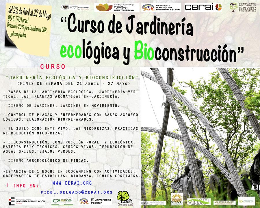 Curso de jardiner a ecol gica y bioconstrucci n en granada for Aprender jardineria